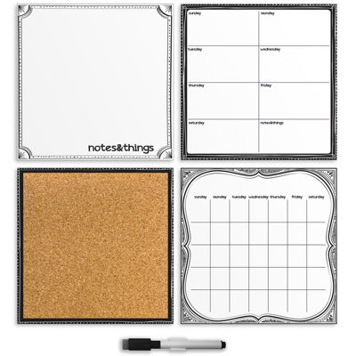 WallPops White 4 Piece Organizer Kit
