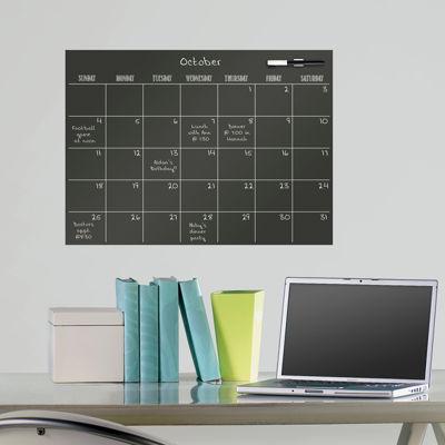 WallPops Black Matte Monthly Calendar Decal