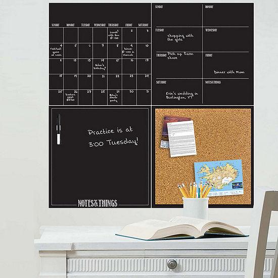 WallPops Black 4 Piece Organizer Kit