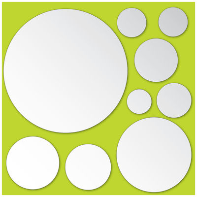 Brewster Dots Mirror Art Decal- Set of 18