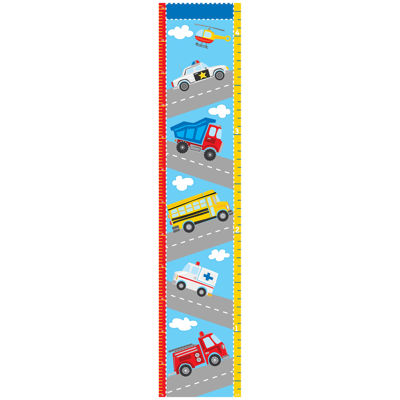 WallPops Transportation Growth Chart Decal