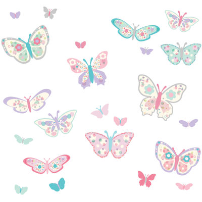 WallPops Flutterby Butterflies Applique Kit