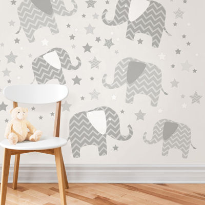 WallPops Elephants - A Ton Of Love Wall Art Kit