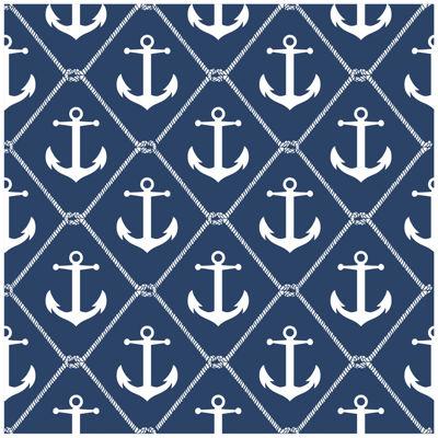 NuWallpaper Set Sail Navy Peel and Stick Wallpaper