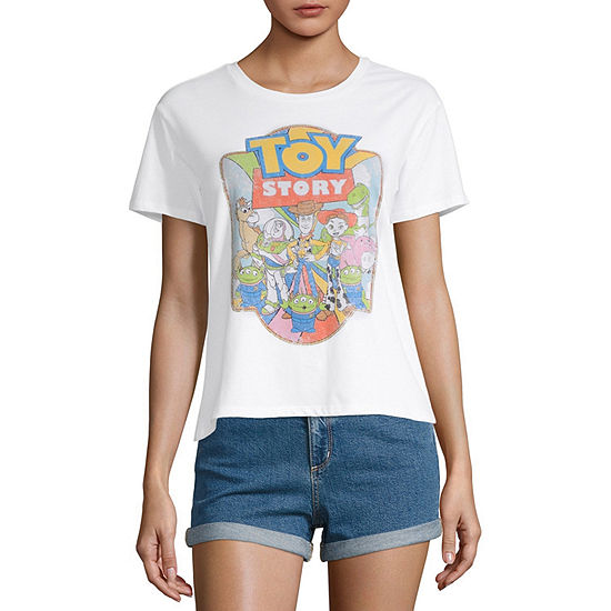 Womens Crew Neck Short Sleeve Toy Story Graphic T Shirt Juniors