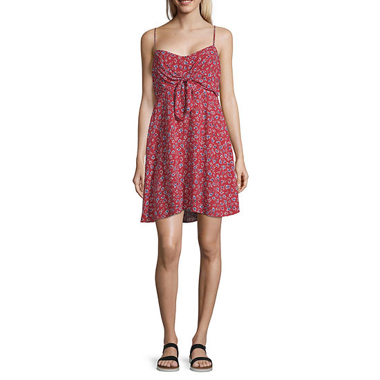 Arizona Sleeveless Floral Fit & Flare Dress-Juniors
