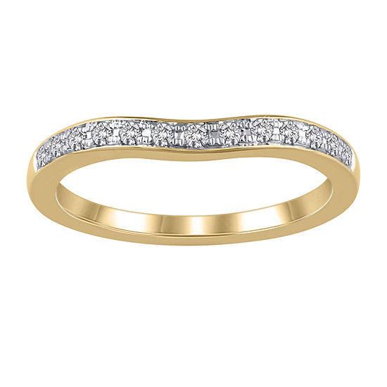 Womens 1/6 CT. T.W. Genuine White Diamond 14K Gold Ring Enhancer