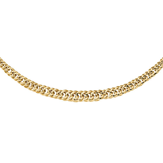 14K Gold 18 Inch Hollow Curb Chain Necklace