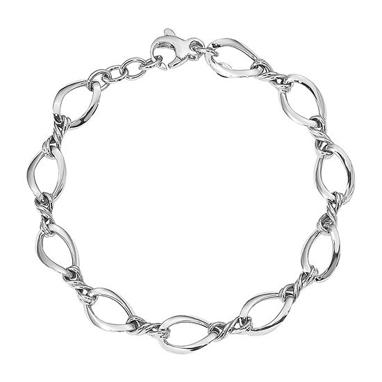 14K White Gold 7.5 Inch Link Bracelet