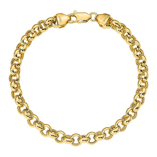 14K Gold 7.5 Inch Hollow Link Bracelet