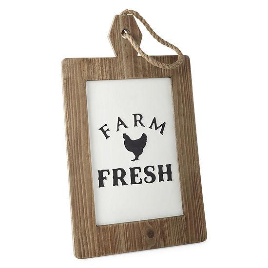 JCPenney Home Farm Fresh Enamel Wall Sign