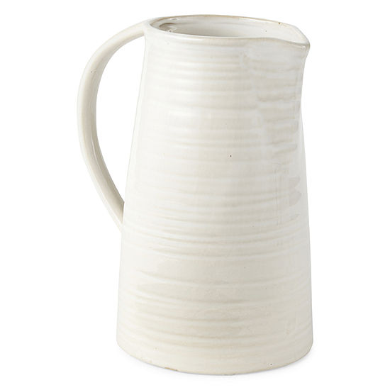 JCPenney Home Ceramic Pitcher Vase