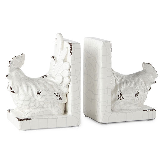 JCPenney Home Rooster 2-pc. Book Ends