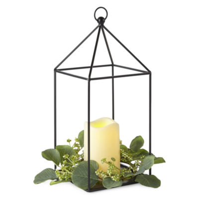 JCPenney Home Metal House With Led Candle Decorative Lantern