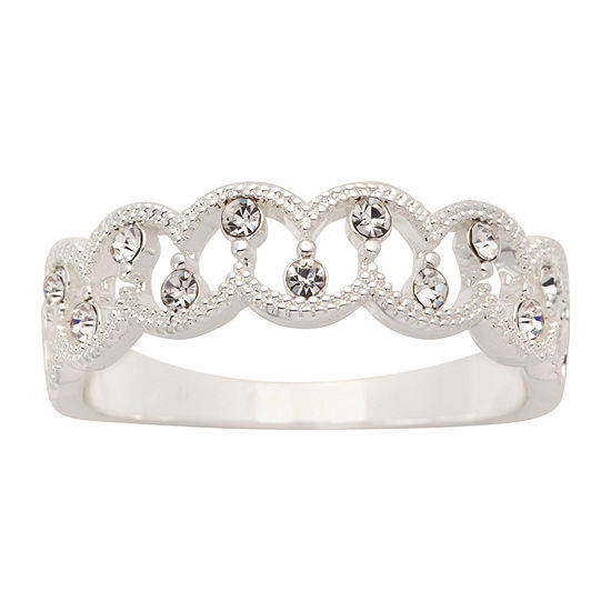 Sparkle Allure Crystal Pure Silver Over Brass