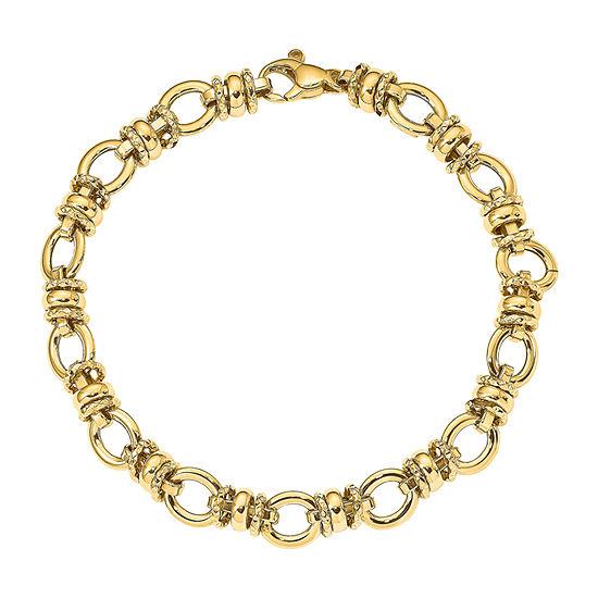 14K Gold 7 3/4 Inch Hollow Link Bracelet