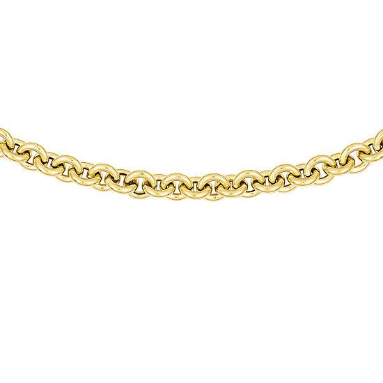 Mens 18 Inch 14K Gold Link Necklace