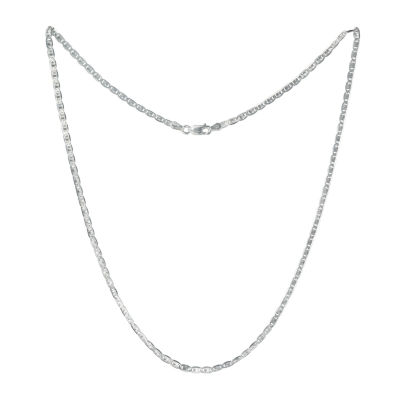 Made in Italy 20 Inch Solid Link Chain Necklace