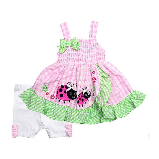 Nanette Baby Girls 2-pc. Short Set Toddler