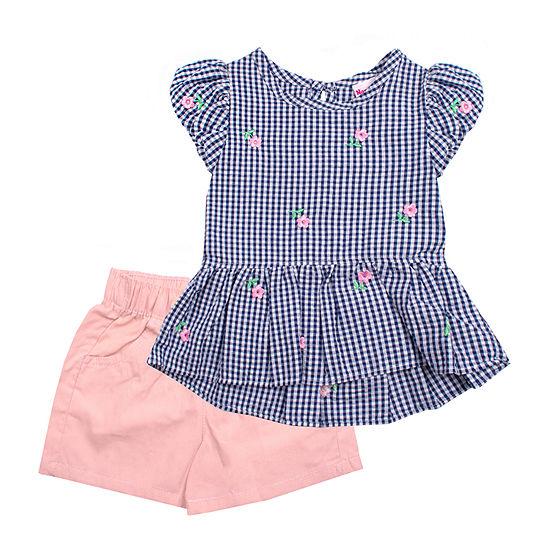 Nannette Baby Toddler Girls 2-pc. Short Set