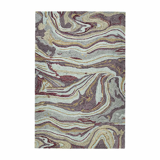 Kaleen Marble Jaden Hand Tufted Wool Rectangular Rug