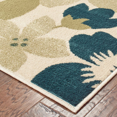 Covington Home Raylan Floral Rectangular Indoor Rugs