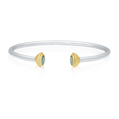 Universe Fine Jewelry By Marvel Genuine Green Topaz 14K Two Tone Gold Over Silver Avengers Bangle Bracelet