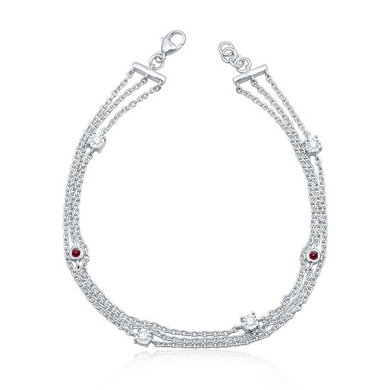Marvel Universe Fine Jewelry By Marvel Genuine Red Topaz 14K Two Tone Gold Over Silver Marvel Bangle Bracelet