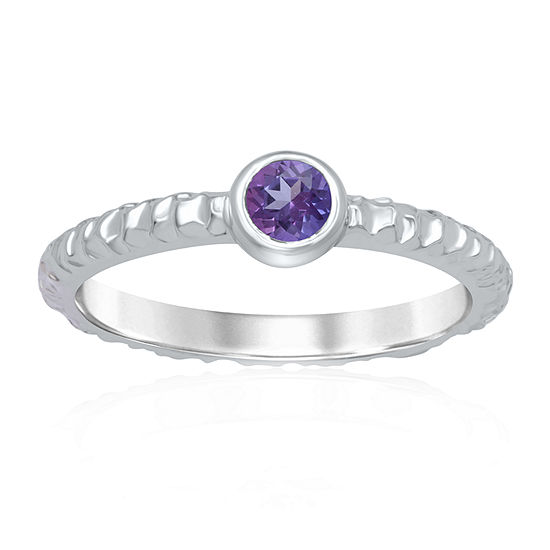 Universe Fine Jewelry By Marvel Womens Genuine Purple Topaz Round Cocktail Ring