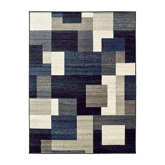 Covington Home Raylan Geometric Rectangular Indoor Rugs