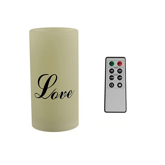 Lavish Home Love Vanilla Scented Remote Flameless Candle