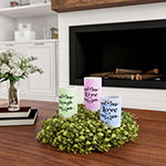 Lavish Home Live Laugh Love Vanilla Scented 3-pc. Flameless Candle
