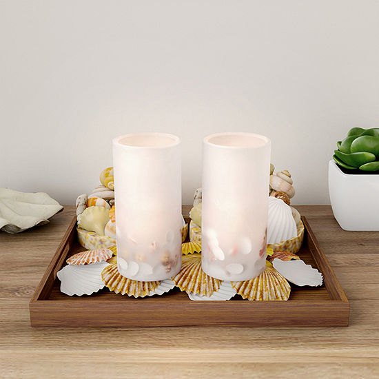 Lavish Home Nautical Realistic Color Changing Pillar Lights 2-pc. Flameless Candle