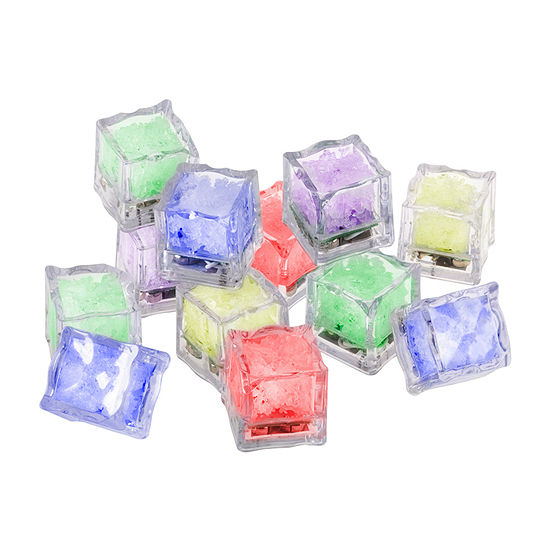 Lavish Home Ice Cube Shape 12-pc. Tea Lights