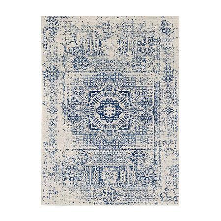 Decor 140 Orleston Rectangular Indoor Rugs, One Size , Blue