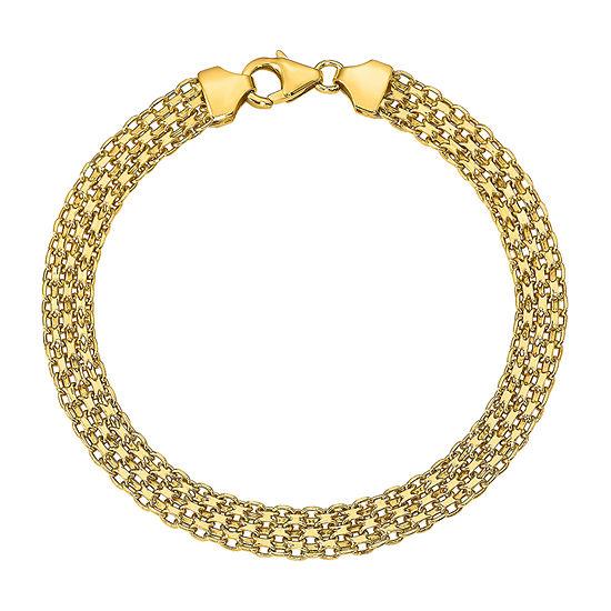 14K Gold 7.5 Inch Hollow Link Link Bracelet