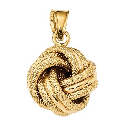 Womens 14K Gold Knot Pendant