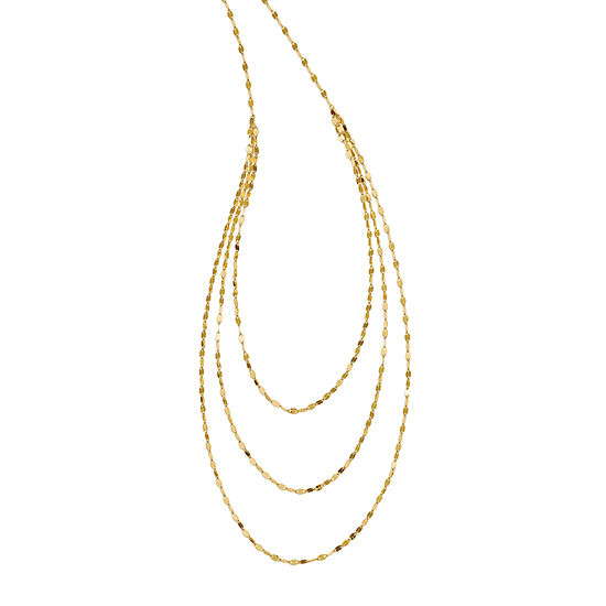 Womens 14K Gold Strand Necklace
