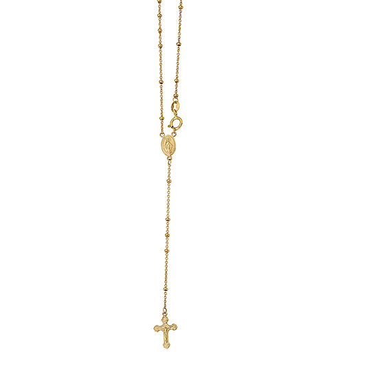 Womens 14K Gold Rosary Necklaces