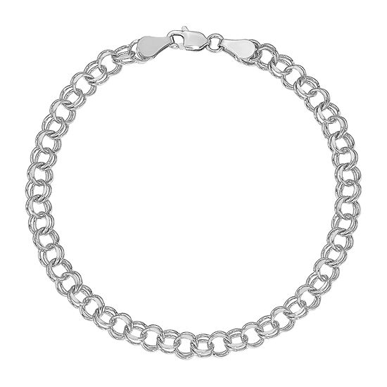 14K White Gold Charm Bracelet