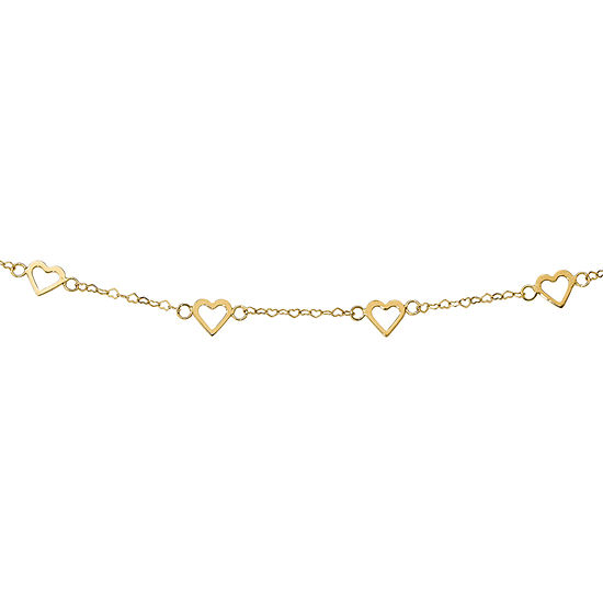Womens 18 Inch 14K Gold Link Necklace