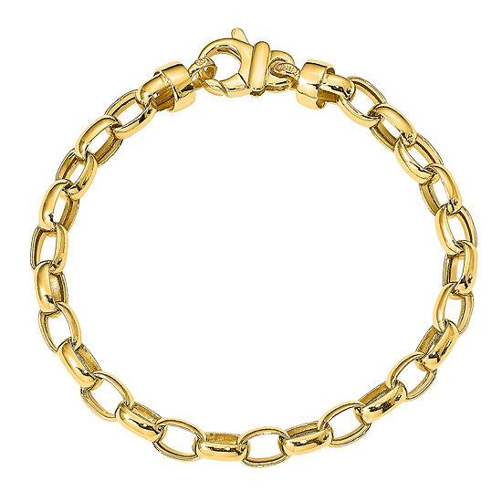14K Gold 7.5 Inch Hollow Link Bracelet