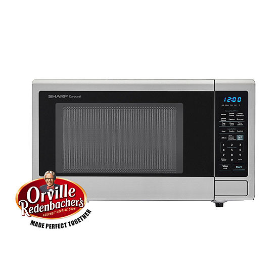 Sharp® Carousel 1.4 Cu. Ft. 1000W Countertop Microwave Oven with Orville Redenbacher's Popcorn Preset