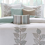 Madison Park Rochelle Embroidered Leaf Reversible 6-pc Coverlet Set