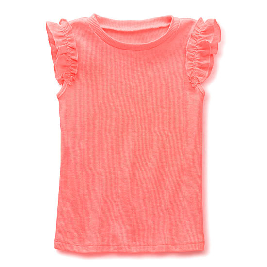 Okie Dokie Toddler Girls Round Neck Sleeveless T-Shirt