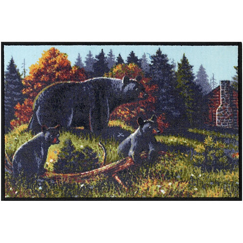 Avanti Black Bear Lodge Bath Rug