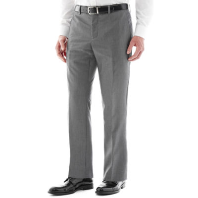 The Savile Row Company Gray Flat-Front Suit Pants - Slim