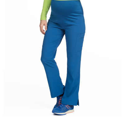 Med Couture 8727 Plus One Maternity Cargo Scrub Pants - Petite