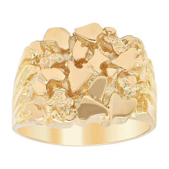 Mens 14k Gold Over Silver Fashion Ring
