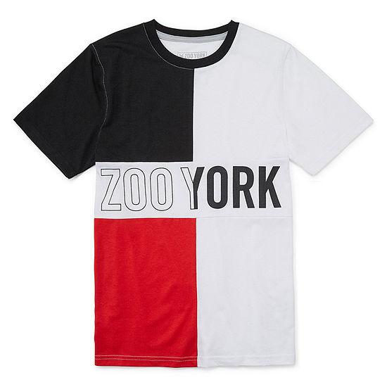 Zoo York Boys Crew Neck Short Sleeve Graphic T Shirt Big Kid Husky